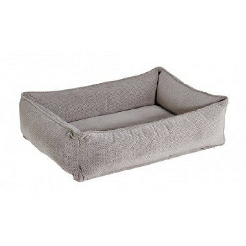 Bowsers Pet MicroVelvet Urban Lounger Nest Dog Bed — Silver Treats