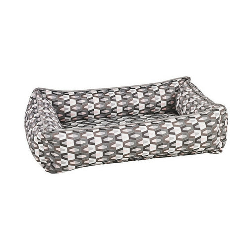 Bowsers Jacquard Urban Lounger Rectangle Nest Dog Bed — Venus
