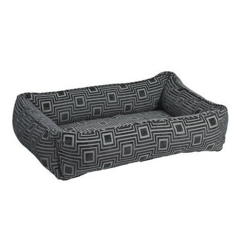 Bowsers Jacquard Urban Lounger Rectangle Nest Dog Bed — Twilight