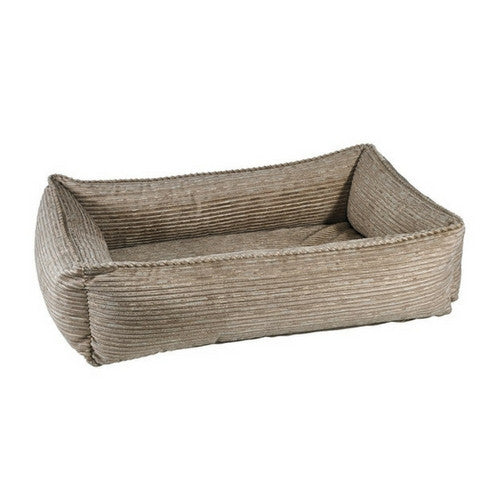 Bowsers Pet MicroVelvet Urban Lounger Rectangle Nest Dog Bed — Wheat