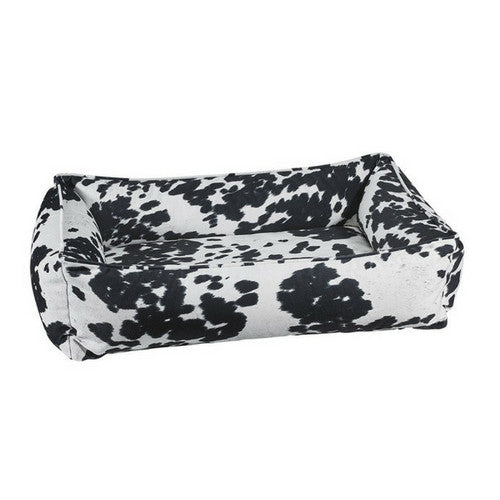 Bowsers Pet MicroVelvet Urban Lounger Rectangle Nest Dog Bed — Wrangler