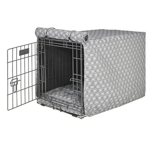 Bowsers Pet Products Micro Jacquard Luxury Dog Crate Cover — Mercury