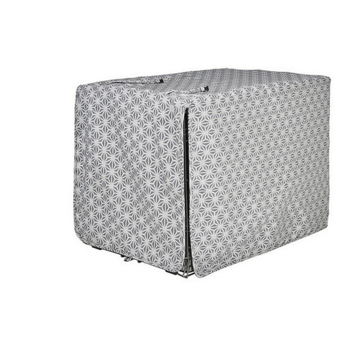 Bowsers Pet Products Micro Jacquard Luxury Dog Crate Cover — Mercury Closed