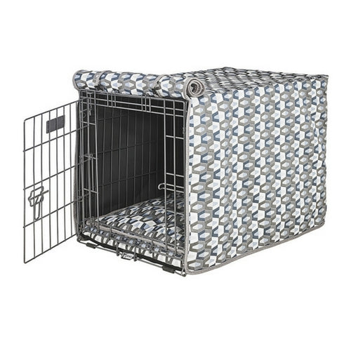 Bowsers Pet Products Micro Jacquard Luxury Dog Crate Cover — Titan