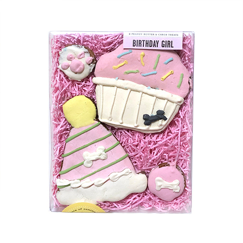 Bubba Rose Birthday Girl Natural Dog Treat Box Gift