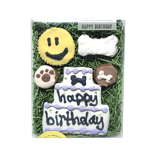 Bubba Rose Happy Birthday Natural Dog Treat Box Gift