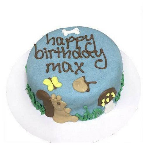 Bubba Rose Biscuit Company Woodland Squirrel Peanut Butter Cake For Dogs Personalization Example