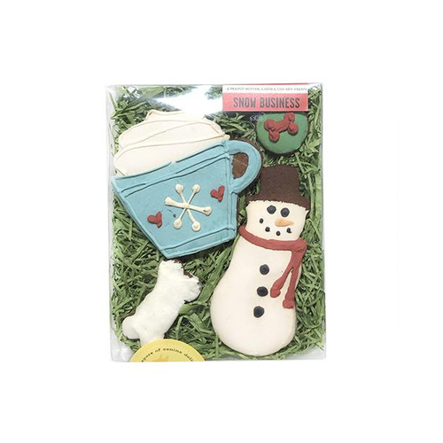 Bubba Rose Biscuit Company Snow Business Holiday Gourmet Dog Treat Box
