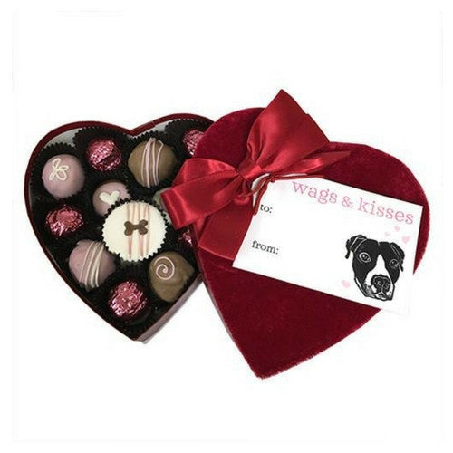 Bubba Rose Biscuit Company Paws & Kisses Velvet Heart Box