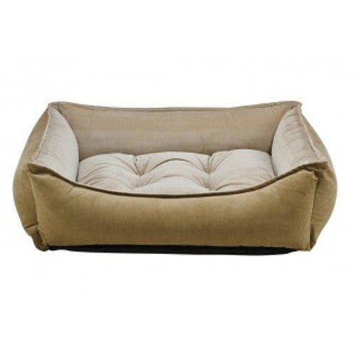 Bowsers MicroVelvet Scoop Bolstered Nesting Dog Bed — Toffee