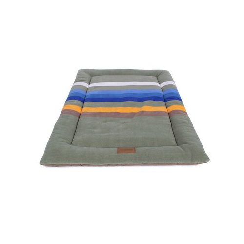 Carolina Pet Pendleton Comfort Cushion Dog Bed — Rocky Mountain National Park Top View Side