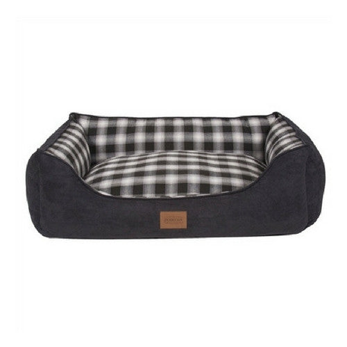 Carolina Pet Company Classic Pendleton Kuddler Dog Bed — Charcoal Ombre