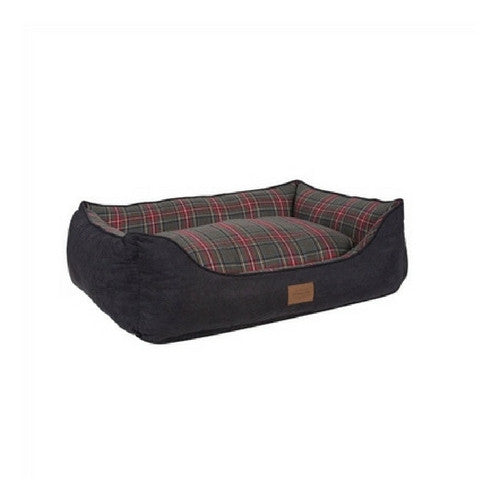 Carolina Pet Company Classic Pendleton Kuddler Dog Bed — Grey Stewart Side Angle View