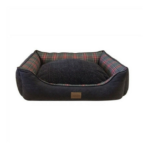 Carolina Pet Company Classic Pendleton Kuddler Dog Bed — Grey Stewart Inner Cushion Reverse
