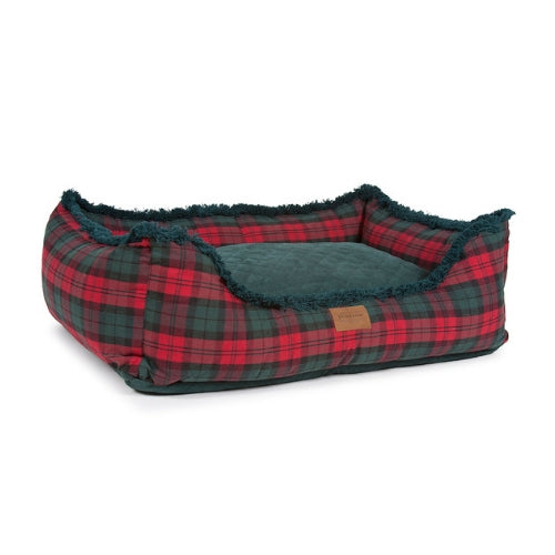 Carolina Pet Company Pendleton Kuddler Dog Bed — MacCormick Plaid Flipped Inner Cushion View