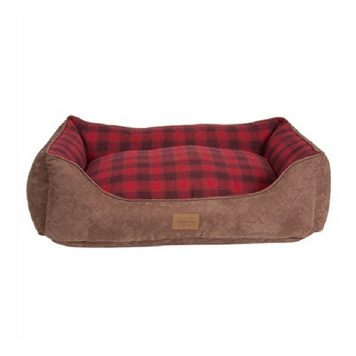 Carolina Pet Company Classic Pendleton Kuddler Dog Bed — Red Ombre