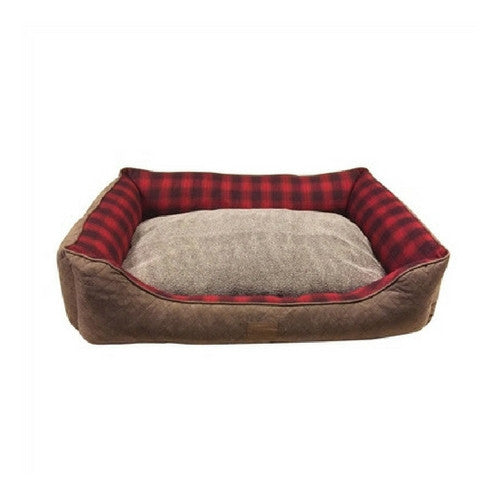 Carolina Pet Company Classic Pendleton Kuddler Dog Bed — Red Ombre Reverse Inner Cushion
