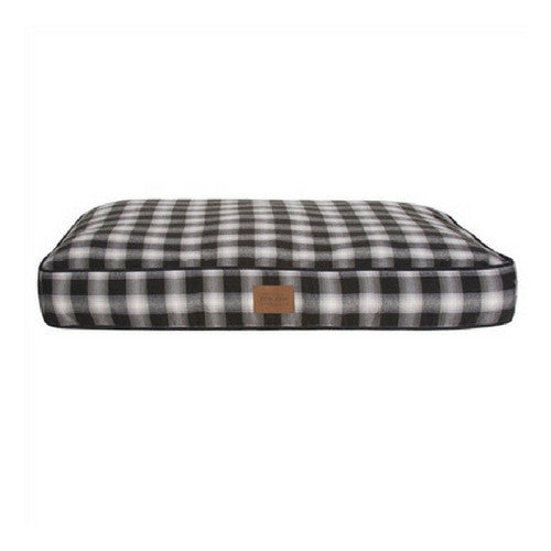 Carolina Pet Company Classic Pendleton Napper Dog Bed — Charcoal Ombre Plaid