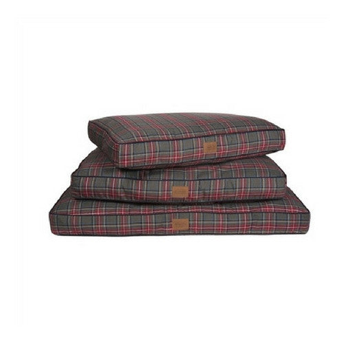 Carolina Pet Company Classic Pendleton Napper Dog Bed — Grey Stewart Stack of Sizes