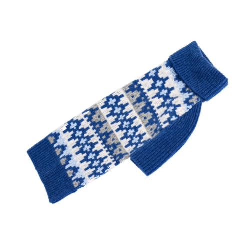 Canine Styles Cashmere Geometric Dog Sweater Blue