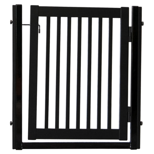 Dynamic Accents Steel and Hardwood Citadel Pressure Mount Pet Gate Black