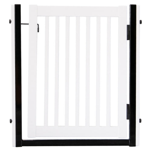 Dynamic Accents Steel and Hardwood Citadel Pressure Mount Pet Gate White