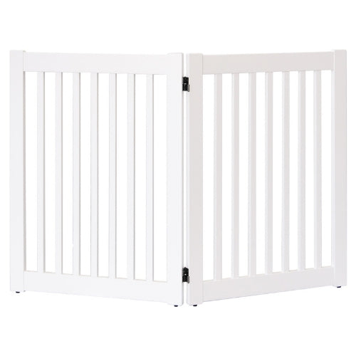 Dynamic Accents Folding Hardwood Highlander Freestanding EZ Pet Gate 2 Panel White