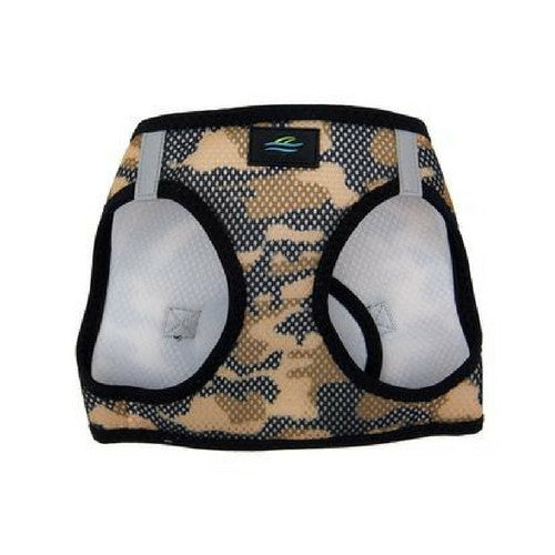 Doggie Design Camo American River Choke Free Dog Harness — Brown Camo Front View