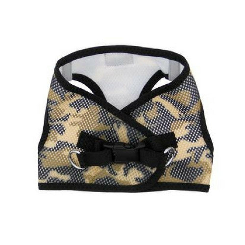 Doggie Design Camo American River Choke Free Dog Harness — Brown Camo Back View