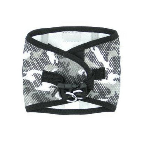 Doggie Design Camo American River Choke Free Dog Harness — Gray Camo Back View