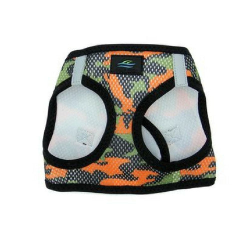Doggie Design Camo American River Choke Free Dog Harness — Orange Camo Front View