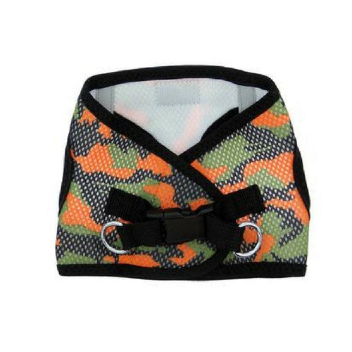 Doggie Design Camo American River Choke Free Dog Harness — Orange Camo Back View