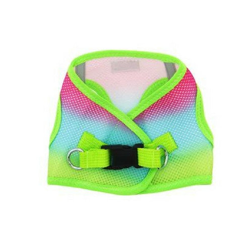 Doggie Design Ombre American River Choke Free Dog Harness — Rainbow Back View