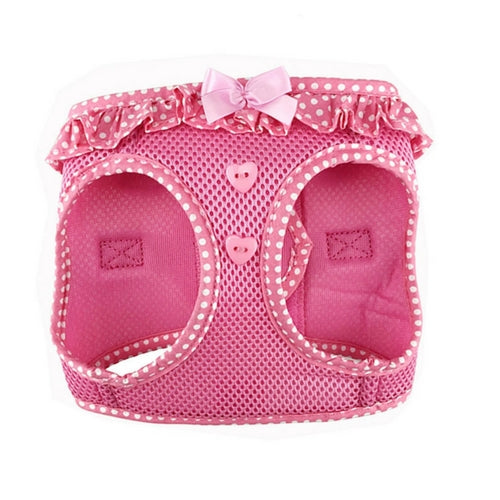Doggie Design Polka Dot American River Choke Free Dog Harness — Pink Front View