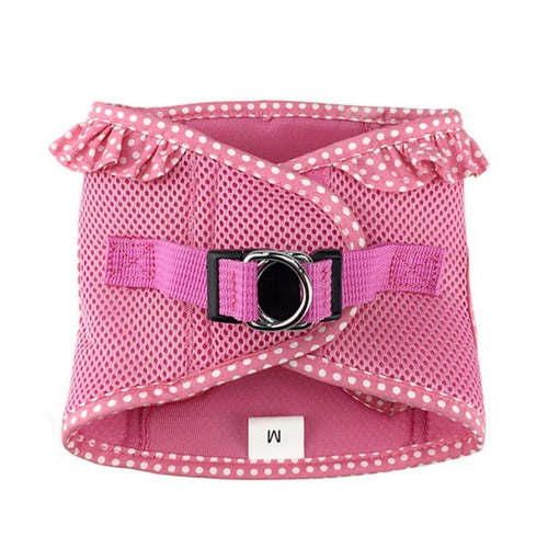 Doggie Design Polka Dot American River Choke Free Dog Harness — Pink Back View