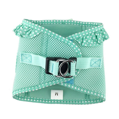 Doggie Design Polka Dot American River Choke Free Dog Harness — Teal Back View