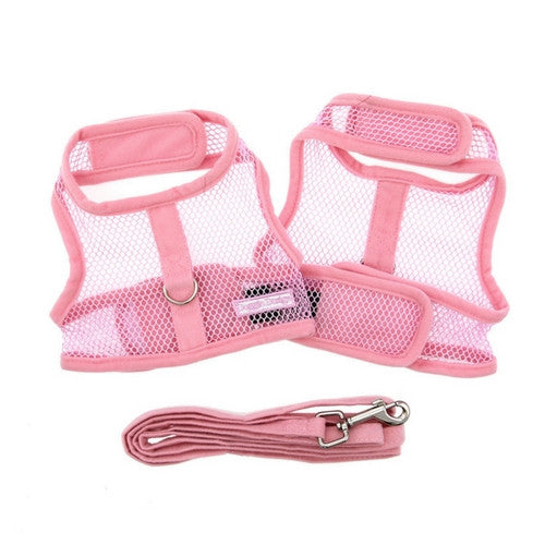 Doggie Design Cool Netted Mesh Dog Harness — Pink