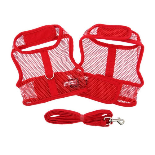 Doggie Design Cool Netted Mesh Dog Harness — Red