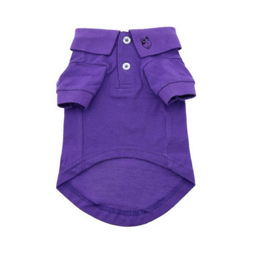 Doggie Deisgn Solid Polo Style Collared Dog Shirt Ultra Violet