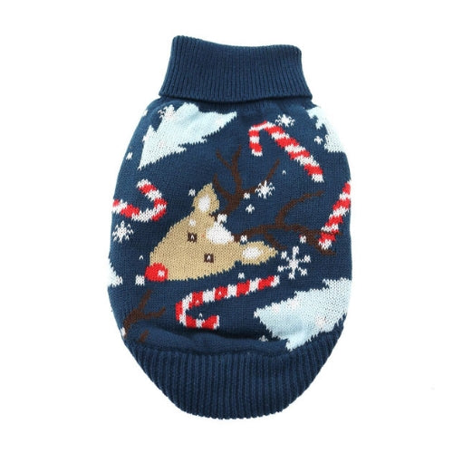 Doggie Design Ugly Reindeer Holiday Cotton Turtleneck Dog Sweater