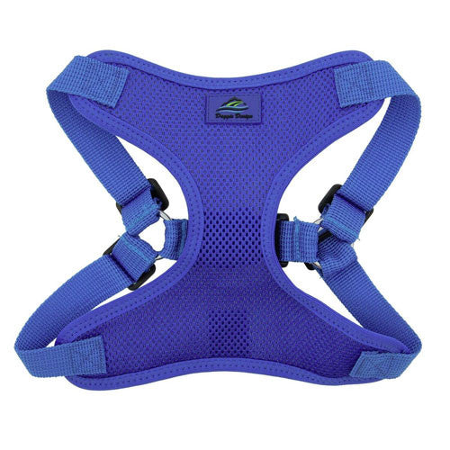 Doggie Design Wrap and Snap Choke Free Dog Harness Cobalt Blue Front