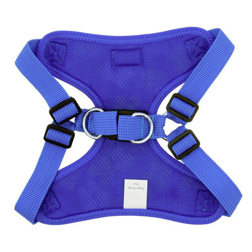 Doggie Design Wrap and Snap Choke Free Dog Harness Cobalt Blue Back