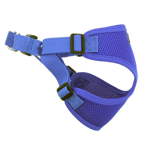 Doggie Design Wrap and Snap Choke Free Dog Harness Cobalt Blue Side