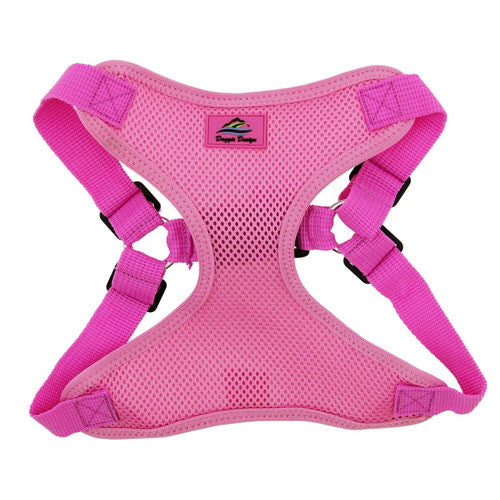 Doggie Design Wrap and Snap Choke Free Dog Harness Candy Pink Front