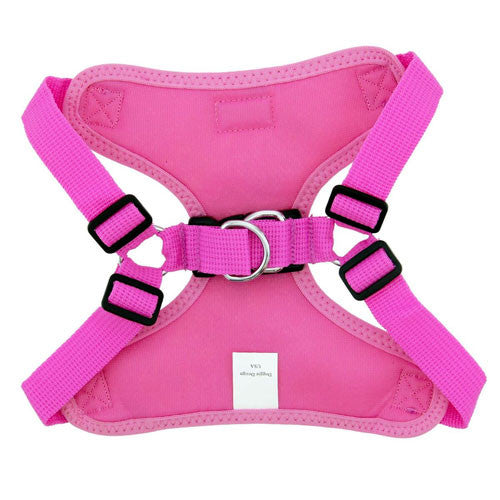 Doggie Design Wrap and Snap Choke Free Dog Harness Candy Pink Back