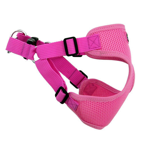 Doggie Design Wrap and Snap Choke Free Dog Harness Candy Pink Side