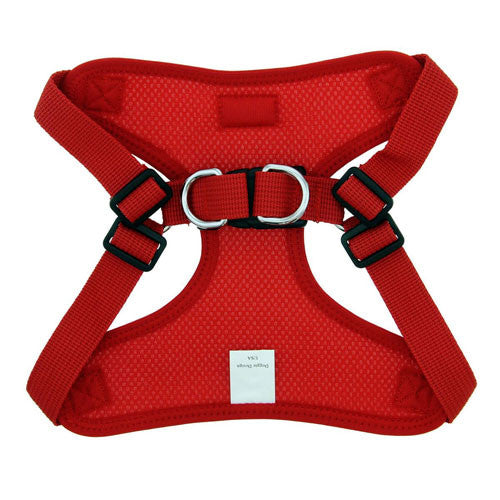 Doggie Design Wrap and Snap Choke Free Dog Harness Flame Red Back