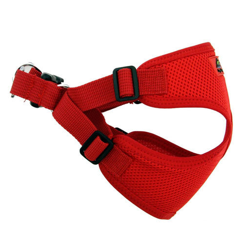 Doggie Design Wrap and Snap Choke Free Dog Harness Flame Red Side