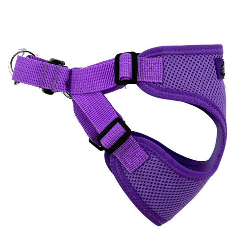 Doggie Design Wrap and Snap Choke Free Dog Harness Paisley Purple Side