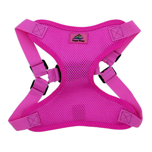 Doggie Design Wrap and Snap Choke Free Dog Harness Raspberry Pink Front